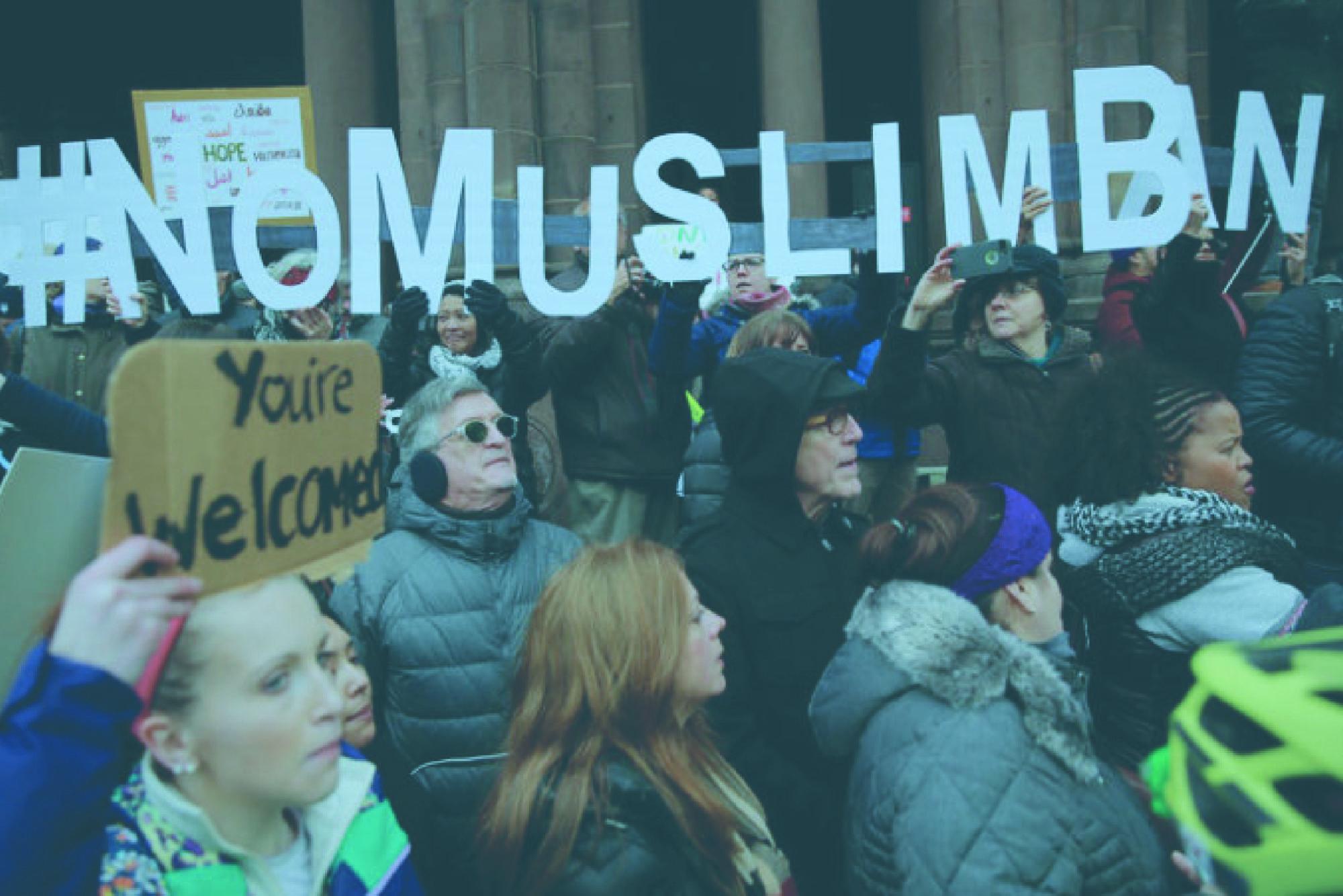 counter trump muslim travel - HD1621×1080